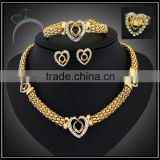 fashion casual jewelry set for women with clear stone/gold plate jewelry to buy