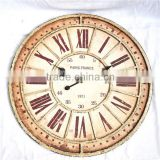 French provincial roman numerals metal wrought iron wall clock rustic