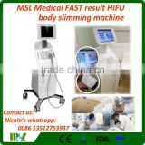 Professional High Intensity Focused Ultrasound Hifu Machine/ Face Back Tightening Lift And Lipo Hifu Slimming Machine MSLHF03 Pain Free
