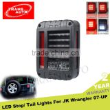 Off Road Plug&Play Black Jeep LED Tail Light for 07-16 Jeep Wrangler