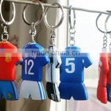 football team rubber soft pvc key chain