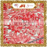 Wholesale 3d rayon flower guipure lace embroidery fabric for bridal dress HKP0025