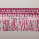 sewing craft rose red braid 12cm pink polyester fringe tassel trimming lace trim