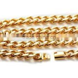 Miami Hot Sell 316L Stainless Steel Cuban Link Chain Hip Hop Necklace Wholesale