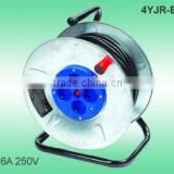European Cable reel steel reel 16A 250V with VDE cable H05VV-F 3G1.5mm2 25/50m Extension cord reel
