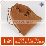 Guangdong factory custom logo pouch with drawstring bracelet packaging bag for velvet bag jewelry