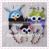 high quality fashion crochet baby hats custom made lovely kids baby knitted owl beanie hat