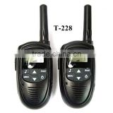 T-228 Travel Twintalker 20 Channels 2 Two Way portable Radios Rechargeble Mini Walkie Talkie for Children Lover