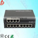 10/100Base Ethernet fiber optic media converter 1 SFP port & 8 RJ45 ports 1310nm fiber optic transceiver