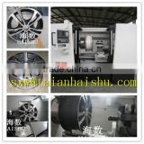 China Haishu wheel repair equipment CK6180W Wheel hub surface repair cnc lathe and rim polishing machine