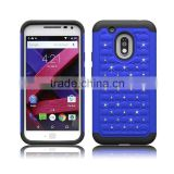 with imitation diamonds case for motorola moto G4 play,pc silicone cover for moto G4 play
