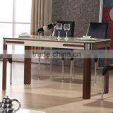 2015 latest modern wooden 8 seater dining table/ dining table marble/ dining table plastic sheet