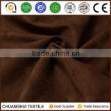 wholesale 100% polyester solid dyed faux suede fabric for sofa/garments/pillow/toy/cusion etc
