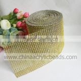 24 lines sew on plastic rhinestone mesh trimming ribbon for wedding cake wrap decoration