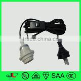 SAA power strip end type ghd hair straightener appliance cable has Australia light switch power cable