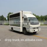 Hot sales new Dongfeng Folding billboard advertising van,led mobile advertising vehicle,advertising trucks for sale