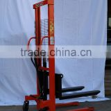 1-2tons Manual Hydraulic Stacker/manual lift/yujie lifting equipment/logistics equipment/yujie/stacker export good price