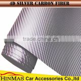 Factory Wholesale PVC material Glossy black car wrap 4d carbon fiber vinyl with air channels