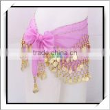 Wholesale 128 Gold Coins Belly Dance Waist Chain Hip Scarf