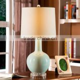 Acrylic Base Ceramic Body With Fabric Round Lampshade Modern Desk Lamp Bedroom Living Room Dining Room Table Lamp