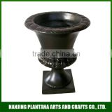 wholesale urn black urn and outdoor flower vase fiberglass resin urn