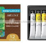 PROFESSIONAL GRADE OIL COLOR - 22ml, 12 colors/set