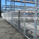 Chain link fence with top barbed wire for airport fence, diamond shape decorative chain link garden/playground fence