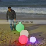 50cm rechargeable battery floating waterproof remote control glow illuminated rgb led ball light LED color changing ball