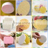 hot selling cellulose sponge round shape facial compressed makeup sponges for customize shape