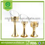 3-tier tall bell shaped glass candle holders for wedding