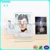 Custom china supplier acrylic photo frames wholesale 3x5 clear colored acrylic frame with magnet