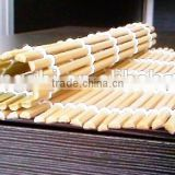 high quality natyral cheap food bamboo sushi rolling mat wit green skin for making roll sushi 30x30cm 24x24cm 27x27cm