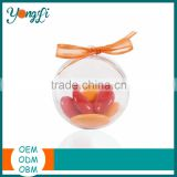 Packing the Candy Clear Plastic Ball Container