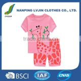 Deer Little Girls' Short Pajamas 100% Cotton Clothes 2-7 Years