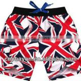 british flag stripe men swimwear board shorts, swimming trunks ,mens swim summer surf shorts