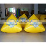 New Custom floating inflatable buoys with logo printing 4 sides for water lake or marine event promotion