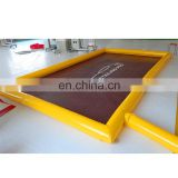 Commercial water containment PVC tarpaulin portable inflatable car wash mat