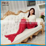 chunky warm sleeping bag adult knitted crochet tail crochet mermaid blanket