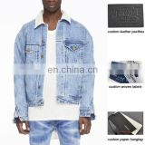 men selvedge denim alpaca trucker jacket vintage stone wash jumbo jacket men wholesale oem oed service