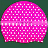 Pink Silicone Swim Cap for woman