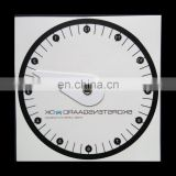 Self adhesive pvc vinyl parking disc sticker,parking clock