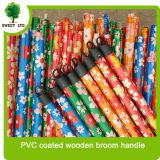 hot selling PVC coated wooden broom handle mop handle