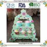 3 Layer paper cake stand Wedding Birthday Buffet Party Foldable Paper Dessert Cake Stand Crown Cupcake Display Stand Cake Tools
