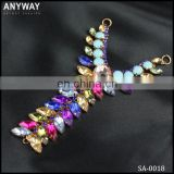 wholesale fancy vintage colorful crystal metal diamond rhinestone buckles for shoes swimwear decoration