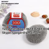 High zinc coated mesh scourer/kitchen dish washing mesh scrubber