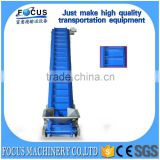 big dip angle belt conveyor/electric belt conveyor machine/sidewall belt conveyor