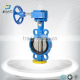 China Tianjin Water PN16 PN10 DN50 DN65 DN100 DIN ANSI Class150 worm gear wafer type butterfly valve