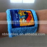 Colored wholesale cotton wrist custom sports bulk sweatband