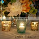 Modern Hurricane Votives Wedding Or Anniversary candle holders / Factory of Gold glass tumbler for candle holder Height 8cm