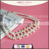 Wholesale chunky statement necklace in china latest design pearl teething necklace jewelry